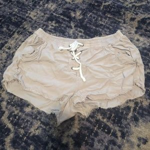 Aerie Lace up Soft Shorts